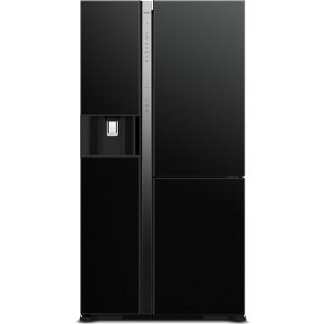Volně stojící spotřebiče - Hitachi R-MX700GVRU0-GBK kombinovaná třídveřová chladnička, NoFrost, 7 let záruka