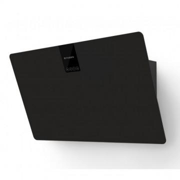 Vestavné spotřebiče - Faber SOFT EDGE NERO INGO A80  - komínový odsavač, černá / FENIX NTM černá mat, šířka 80cm