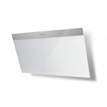 Vestavné spotřebiče - Faber DAISY PLUS WH A80  - komínový odsavač, nerez / bílé sklo s nerez páskem, šířka 80cm