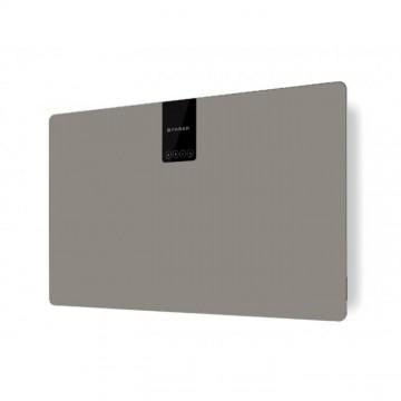 Vestavné spotřebiče - Faber SOFT SLIM GRIGIO LONDRA A80  - komínový odsavač, černá / FENIX NTM šedá mat, šířka 80cm