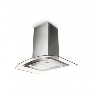 Vestavné spotřebiče - Faber TRATTO ISOLA NS EV8 X/V A90  - ostrůvkový odsavač, nerez / sklo, šířka 90cm