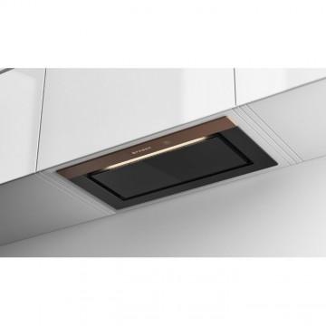 Vestavné spotřebiče - Faber BI-AIR KL A52  - vestavný odsavač, černé sklo / světle hnědé sklo, šířka 52cm