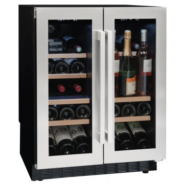 Vestavné spotřebiče - Avintage AVU41SXDPA vinotéka dvouzónová, 42 lahví, stříbrná/černá