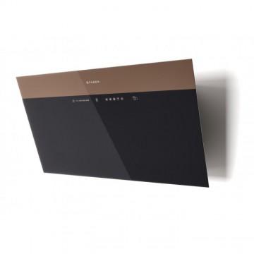 Vestavné spotřebiče - Faber V-AIR KL A80  - komínový odsavač, černá / černé a světle hnědé sklo, šířka 80cm