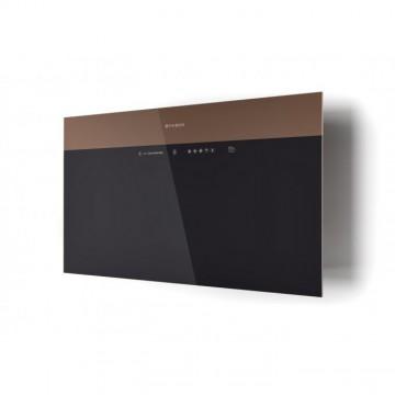 Vestavné spotřebiče - Faber V-AIR FLAT KL A80  - komínový odsavač, černá / černé a světle hnědé sklo, šířka 80cm