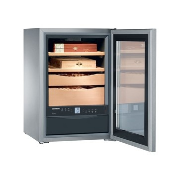 Volně stojící spotřebiče - Liebherr ZKes 453 Humidor, objem 43 l, dřevěné rošty, prosklené dveře, nerezová