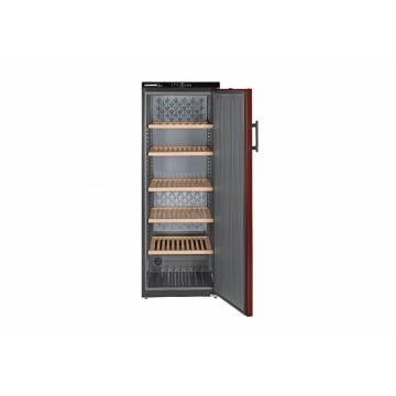 Volně stojící spotřebiče - Liebherr WTr 4211 Vinothek, objem 409 l (200 ks), dřevěné rošty, boky černé, dveře bordó