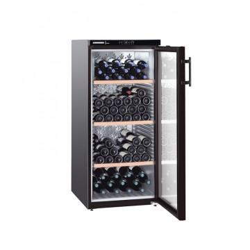 Volně stojící spotřebiče - Liebherr WKb 3212 Vinothek, objem 336 l (164 ks), dřevěné rošty, černá