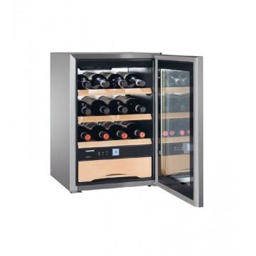 Volně stojící spotřebiče - Liebherr WKes 653 GrandCru, dřevěné rošty, prosklené dveře, nerezová