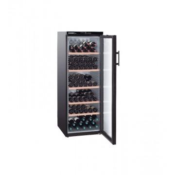Volně stojící spotřebiče - Liebherr WTb 4212 Vinothek, dřev. rošty, prosklené dveře, černá