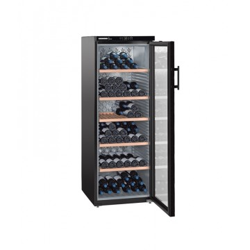 Volně stojící spotřebiče - Liebherr WKb 4212 Vinothek, objem 427 l (200 ks), dřev. rošty, prosklené dveře, černá