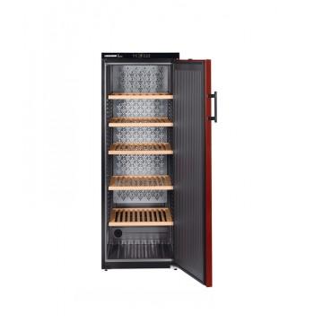 Volně stojící spotřebiče - Liebherr WKr 4211 Vinothek, volněstojící vinotéka, boky černé, dveře bordó