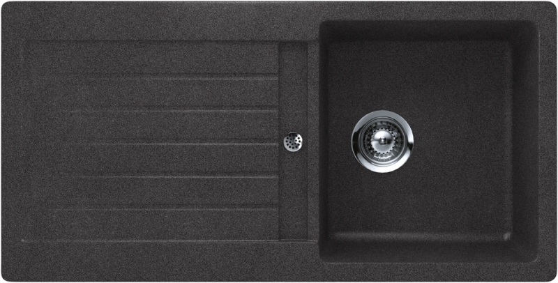 Schock Signus D-100S CRISTADUR Carbonium granitový dřez horní montáž