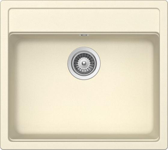 Schock Nemo N-100 CRISTALITE+ Crema granitový dřez horní montáž + dárek Schock Skleněná krájecí deska 629015/N zdarma