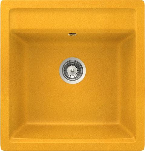 Schock Nemo N-100S CRISTALITE+ Bright Orange granitový dřez horní montáž