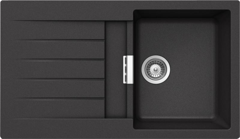 Schock Primus D-100 CRISTALITE+ Nero granitový dřez spodní montáž