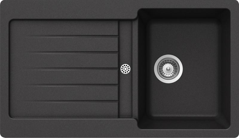 Schock Typos D-100 CRISTALITE+ Nero granitový dřez horní montáž