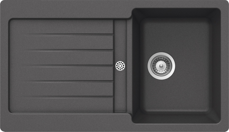 Schock Typos D-100 CRISTALITE+ Inox granitový dřez horní montáž