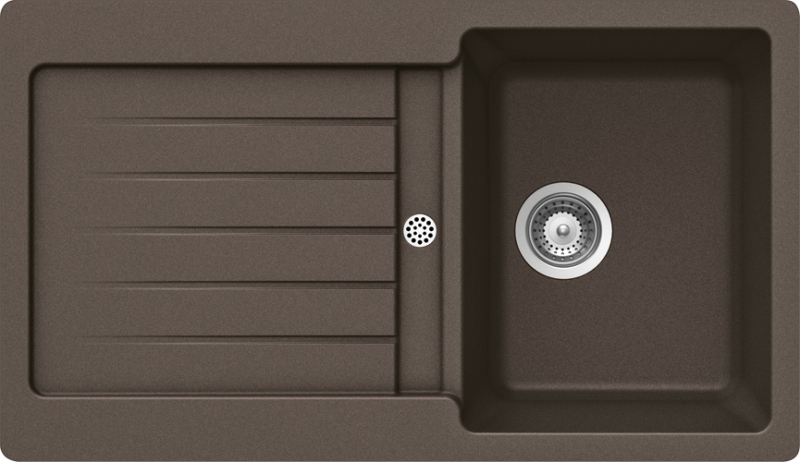Schock Typos D-100 CRISTALITE+ Mocha granitový dřez horní montáž