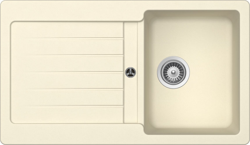 Schock Typos D-100 CRISTALITE+ Crema granitový dřez horní montáž