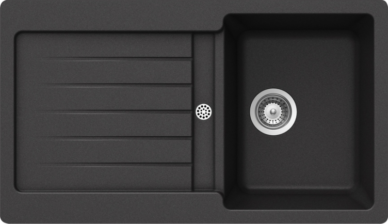 Schock Typos D-100 CRISTALITE+ Nero granitový dřez spodní montáž