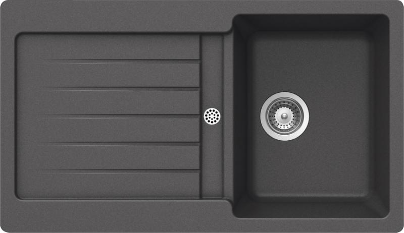 Schock Typos D-100 CRISTALITE+ Inox granitový dřez spodní montáž