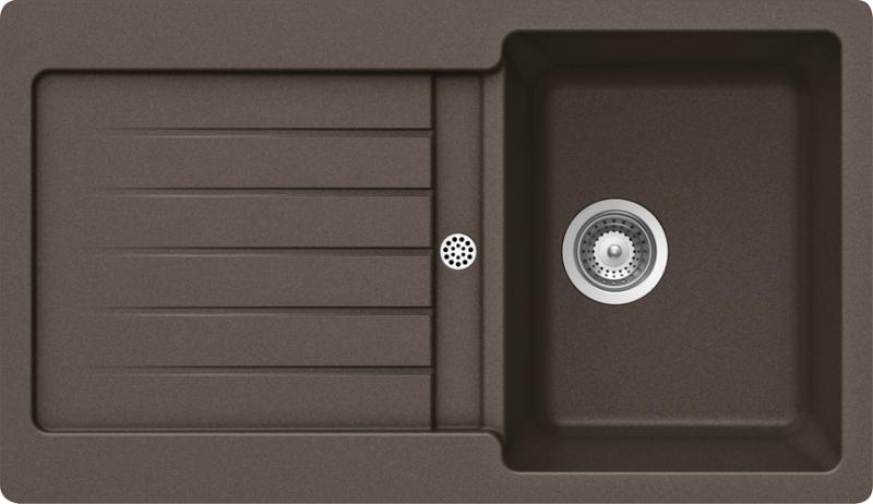 Schock Typos D-100 CRISTALITE+ Mocha granitový dřez spodní montáž