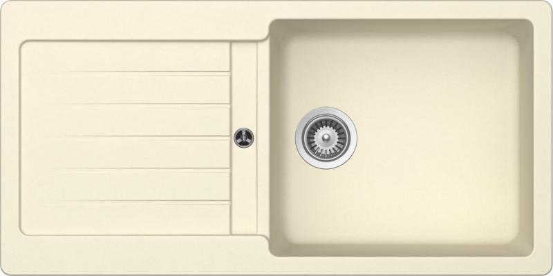 Schock Typos D-100L CRISTALITE+ Crema granitový dřez horní montáž