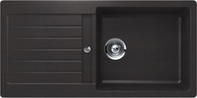 Schock Typos D-100L CRISTALITE+ Nero granitový dřez spodní montáž
