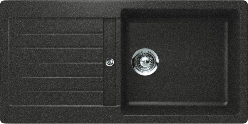 Schock Typos D-100L CRISTALITE+ Onyx granitový dřez spodní montáž