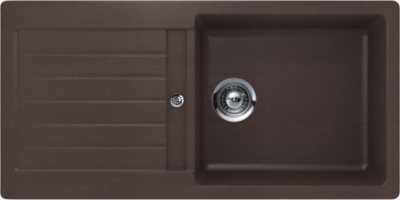 Schock Typos D-100L CRISTALITE+ Mocha granitový dřez spodní montáž