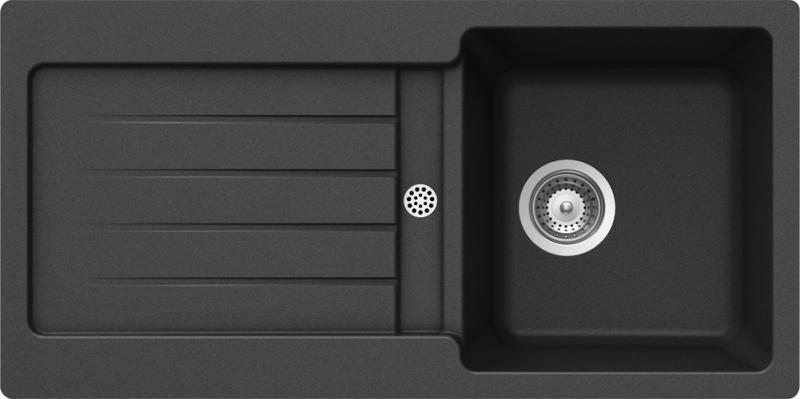Schock Typos D-100S CRISTALITE+ Nero granitový dřez horní montáž