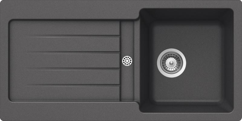 Schock Typos D-100S CRISTALITE+ Inox granitový dřez horní montáž