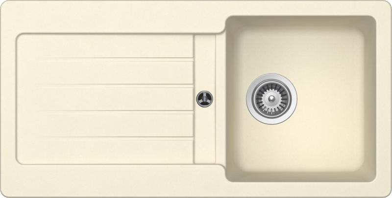 Schock Typos D-100S CRISTALITE+ Crema granitový dřez horní montáž