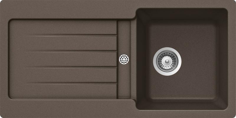 Schock Typos D-100S CRISTALITE+ Mocha granitový dřez spodní montáž