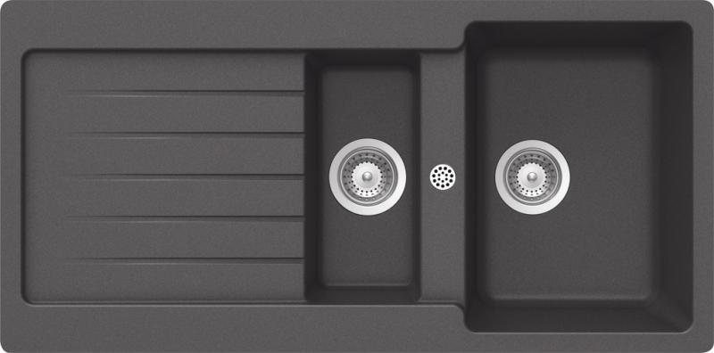 Schock Typos D-150 CRISTALITE+ Inox granitový dřez horní montáž