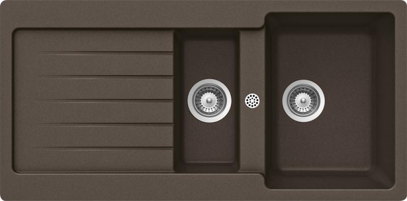 Schock Typos D-150 CRISTALITE+ Mocha granitový dřez spodní montáž