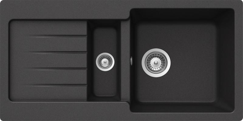 Schock Typos D-150S CRISTALITE+ Nero granitový dřez horní montáž