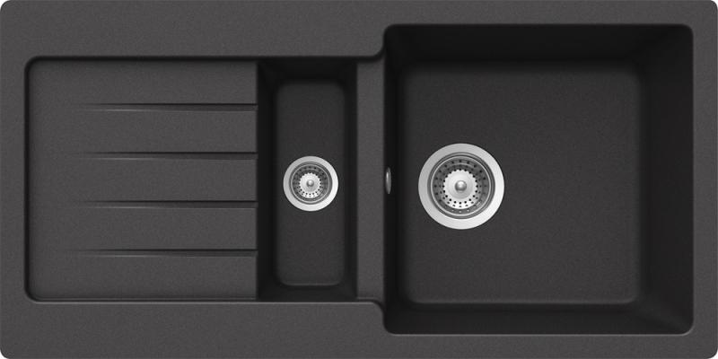 Schock Typos D-150S CRISTALITE+ Onyx granitový dřez horní montáž
