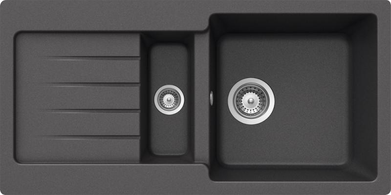 Schock Typos D-150S CRISTALITE+ Inox granitový dřez horní montáž