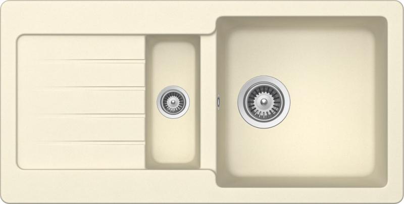Schock Typos D-150S CRISTALITE+ Crema granitový dřez horní montáž