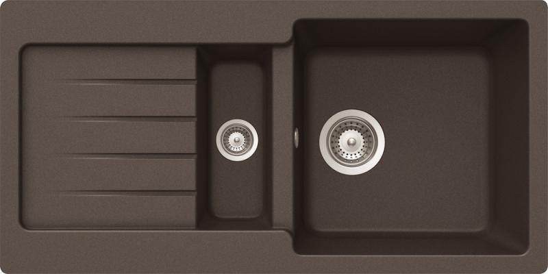 Schock Typos D-150S CRISTALITE+ Mocha granitový dřez spodní montáž