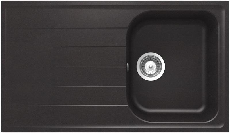 Schock Viola D-100 CRISTALITE+ Nero granitový dřez horní montáž