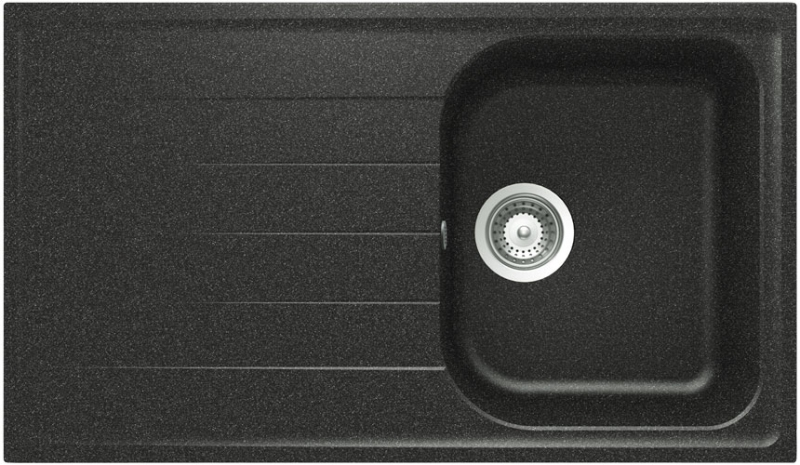 Schock Viola D-100 CRISTALITE+ Onyx granitový dřez horní montáž