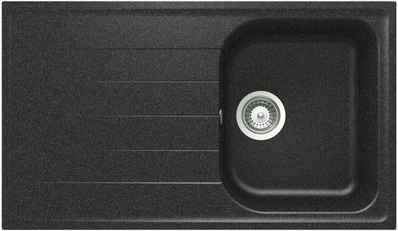 Schock Viola D-100 CRISTALITE+ Onyx granitový dřez spodní montáž