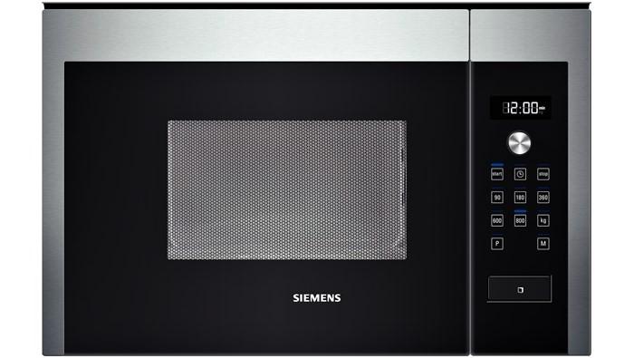 Siemens HF15M564 60cm vestavná, cookControl7, obj.20l, 800W, otočný talíř 25,5 cm, el.ovládání, zap.otoč.knoflík, svět.koncept bílá, nerez