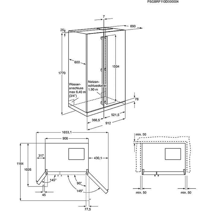 Electrolux eal6140wou americk lednice electrolux moje Medidas frigorifico americano