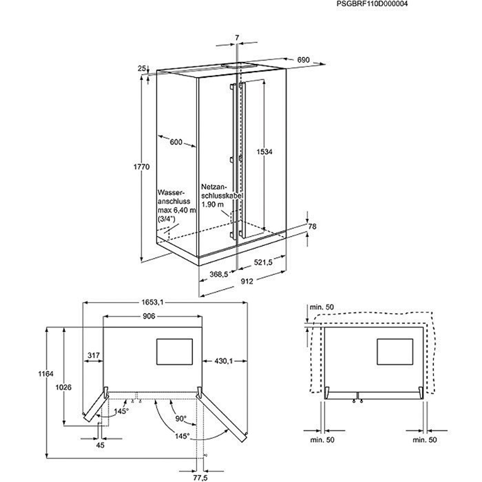 Electrolux eal6140wou americk lednice electrolux moje spot ebi e - Frigorifico americano medidas ...