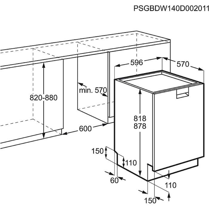 Electrolux esf8585rox voln stoj c my ka n dob for Dimensiones de mobiliario de cocina