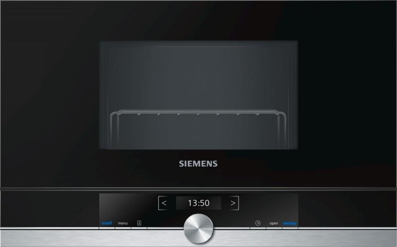 Siemens BE634LGS1 vestavná mikrovlnná trouba, levý závěs, nerez - Akce